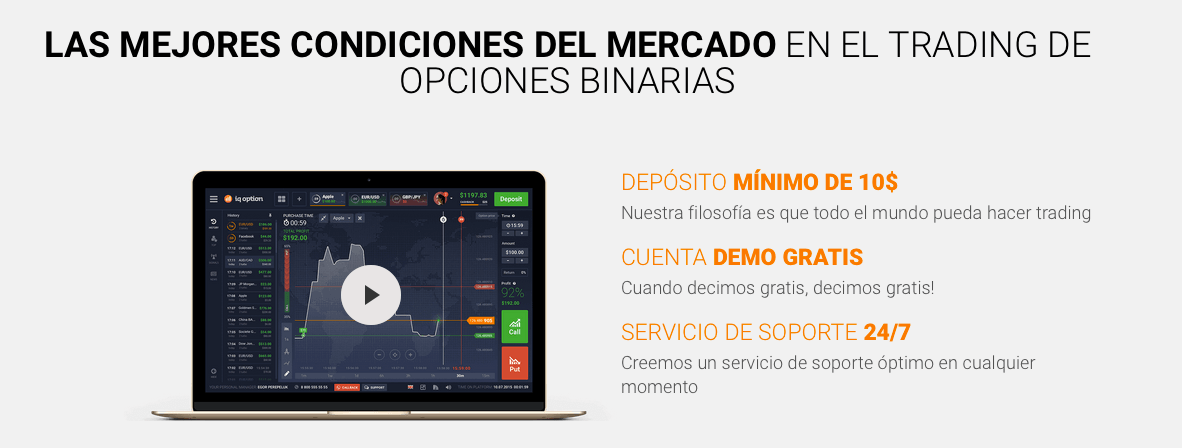 Operaciones binarias en IQ Option